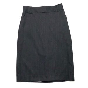 Banana Republic Black Pinstriped Wool Blend Skirt